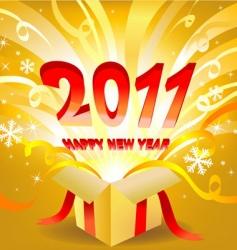 magic new year box vector image