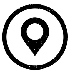 Map Marker Icon Rubber Stamp vector