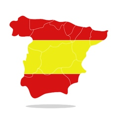 map spain vector image