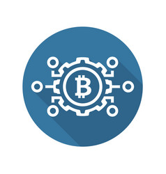 mechanics of bitcoin icon vector image