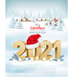 Merry christmas and new year holiday background vector