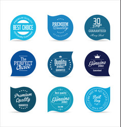 modern badges blue collection vector image