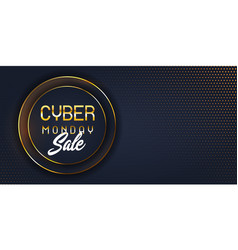modern cyber monday sale banner vector image