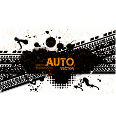 off-road dirt rally hand drawn grunge lettering vector image