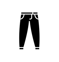 pants - trousers icon black vector image
