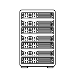 Pc tower isolated icon design vector