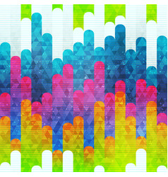 rainbow stripes seamless pattern vector image