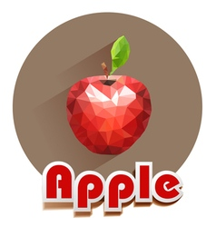 red apple icons of triangles vector image
