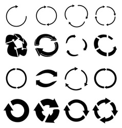 Reload recycle icons set vector image