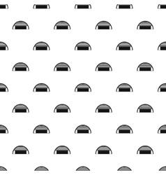 Round garage pattern simple style vector