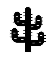 saguaro cactus glyph icon tree like cactus desert vector image