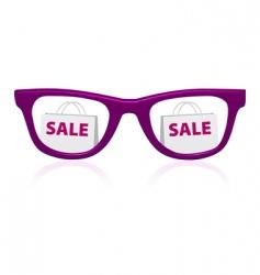 Sale sunglasses icon vector