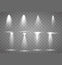 scene illumination collection transparent vector image