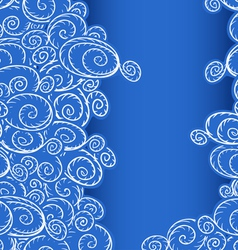 Seamless background of curled abstract clouds vector image
