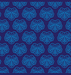 seamless pattern japanese blue ornament vector image