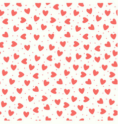 seamless pattern with coral pink hand-drawn simple vector image