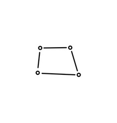 segmental square icon vector image