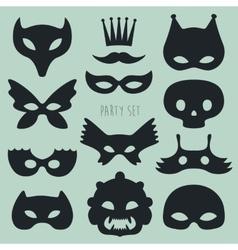 Set of Carnival Mask vector
