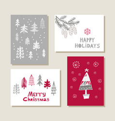 Set of christmas cards17 vector