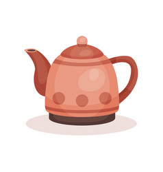 small teapot with handle lid and long spout vector image