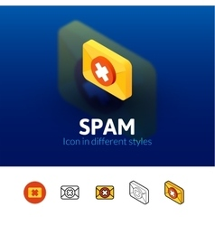 Spam icon in different style vector