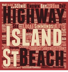 St Kitts Scenic Highway text background wordcloud vector