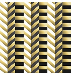 Striped geometric seamless pattern in gold vector