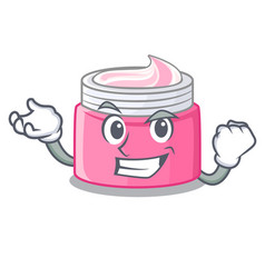 Successful face cream in the cartoon form vector
