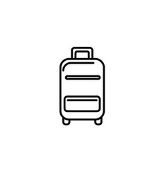 suitcase equipment summer icon line vector image