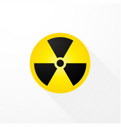 symbol radioactivity with long shadows vector image