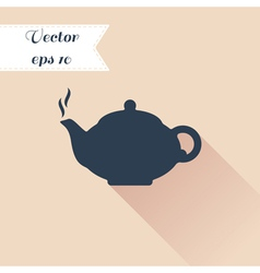 Teapot silhouette icon vector image