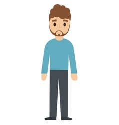 teen boy character avatar vector image