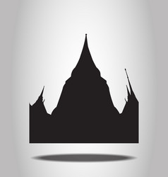 Thai Temple Silhouettes on the white background vector image
