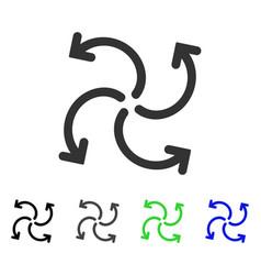 Turbine rotation flat icon vector