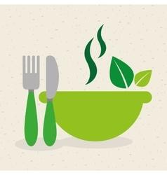 vegetarian menu healthy food vector image