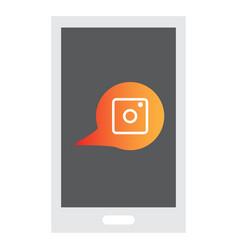 Web icon of modern lineart camera digital vector