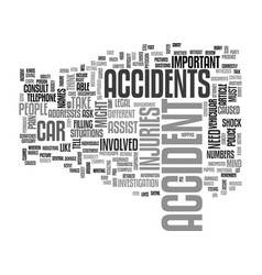 what to do when you get into an accident text vector image