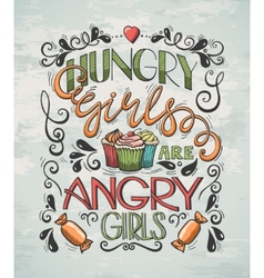 Poster Hungry Girls vector image