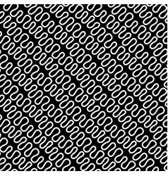 seamless linear pattern with thin elegant curved vector image vector image