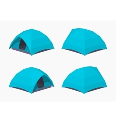 Sky-blue camping tents vector image vector image