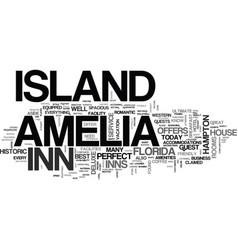 amelia island hotels text word cloud concept vector image vector image
