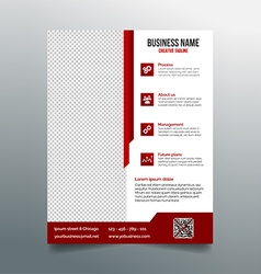 Corporate business flyer template - red design vector image vector image