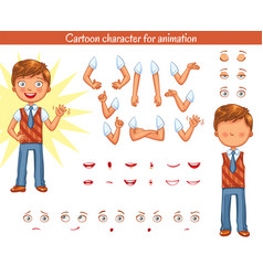 Schoolboy parts of body template vector