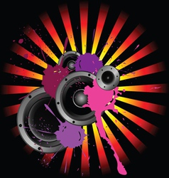 speakers and sound vector image