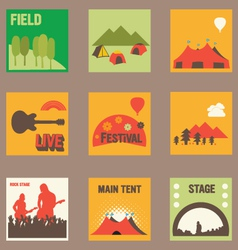 Summer Music Festival Graphics vector image vector image