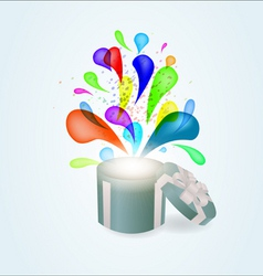 gift box abstract background vector image vector image