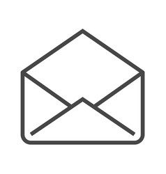 mail thin line icon vector image vector image