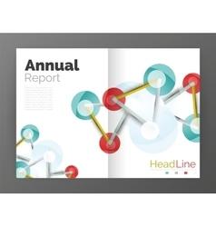 Molecule annual report vector image