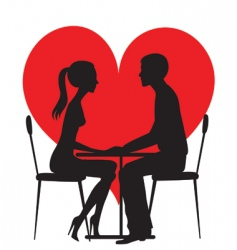 Silhouette of lovers vector