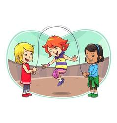 Skipping Jump Play vector image vector image